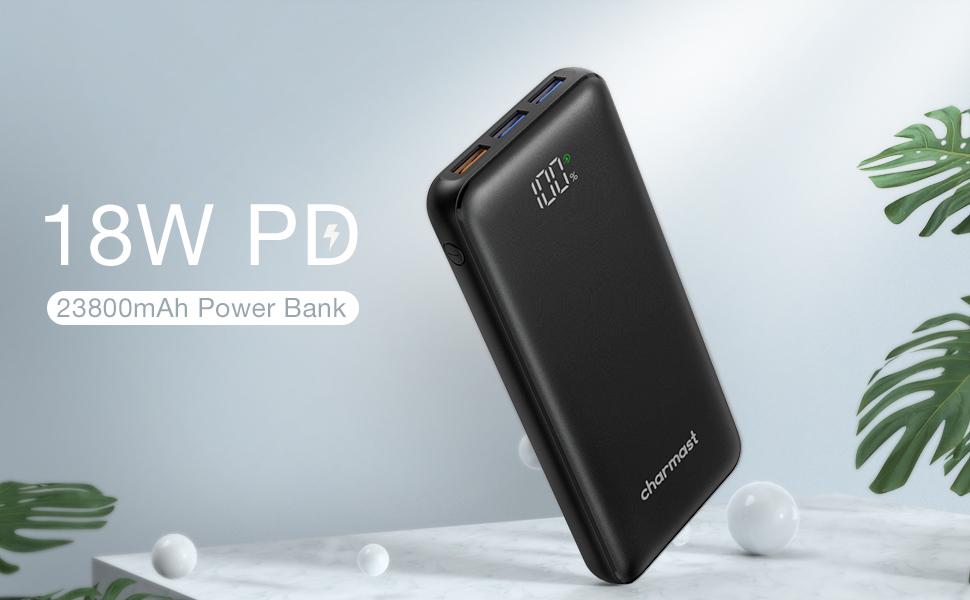 Charmast bateria externa para movil 18W PD & QC3.0
