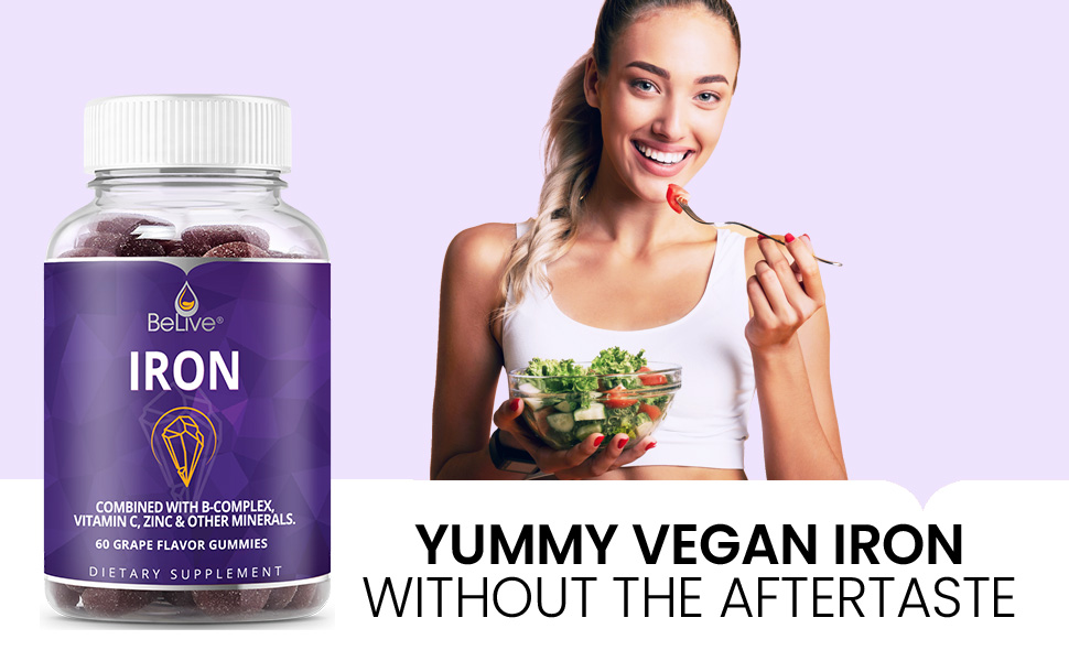 The Vegan Iron Gummy with Multi-Vitamins For Kids & Adults!