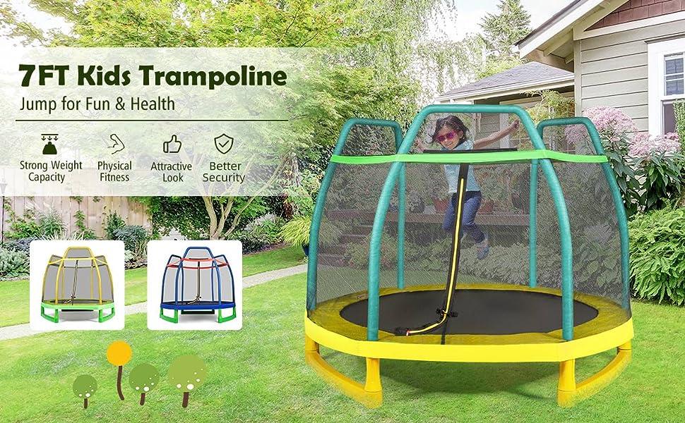 7ft kids trampoline