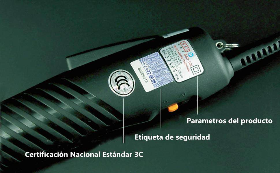 Destornillador Eléctrico Portátil Torque Ajustable Pistola ...