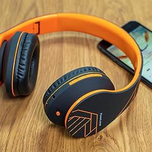 wireless over ear headphones for tv headphone compatible alexa portable headphones over ear case