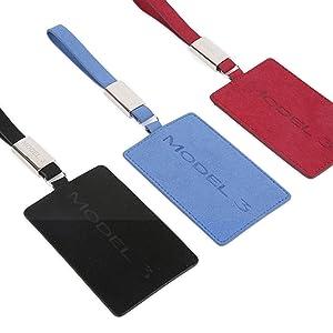 Kwak S Tesla Modell 3 Schlüssel Karten Halter Autoschlüssel Kartentasche Schlüsselmappe Für Tesla Modell 3 Leichte Kartenhülle Mit Schlüsselanhänger Schwarz Auto