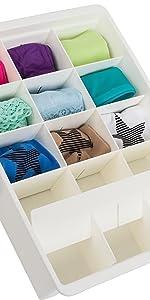White drawer dividers