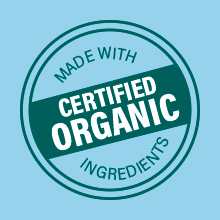 Handcrafted With Certified Organic Ingredients