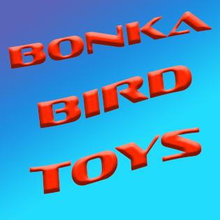 Bonka Bird Toys Parrot Cockatoo Amazon African Grey Budgie Quaker Hyacinth Electus PArakeet Canary