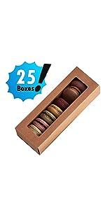 Kraft Macaron Box