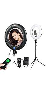 18 inch ring light with stand