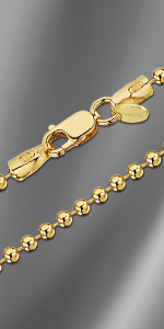 Gold Plated Ball Chain Necklace