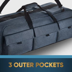 Telescope case outer pockets