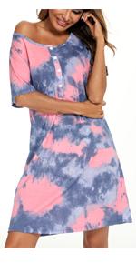 women short sleeve nightgown
