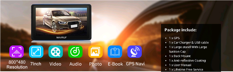 NAVRUF GPS navigation system
