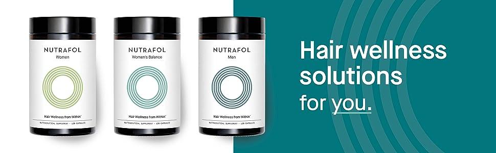 Nutrafol hair wellness solution hair loss thinning capsules vitamins