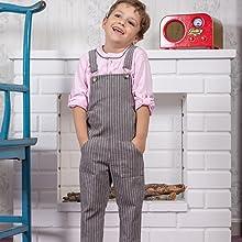 Patterns-bib shirt-child sewing