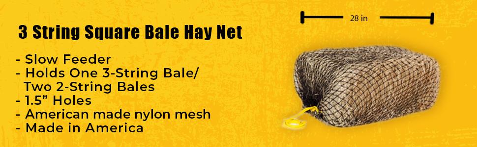 "GE TAC Large 46/""X46/"" haynets//Haylage petit trou 2.5/"" Feed annelé très forte"