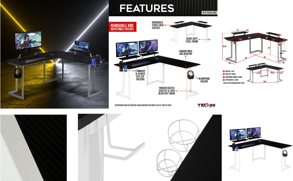 GAMING DESK DESIGN FURNITURE OFFICE HOME CHAIRS