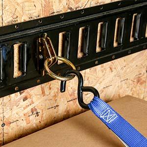E-Track O-Ring on E-Track with strap