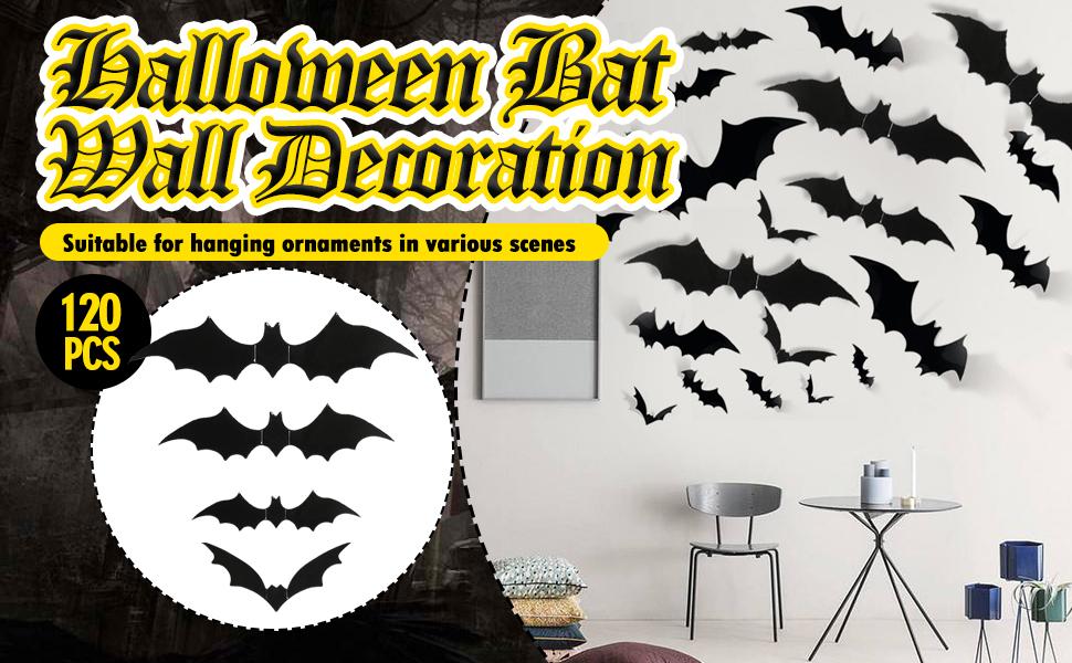 Halloween Eve DIY PVC 3D Bats