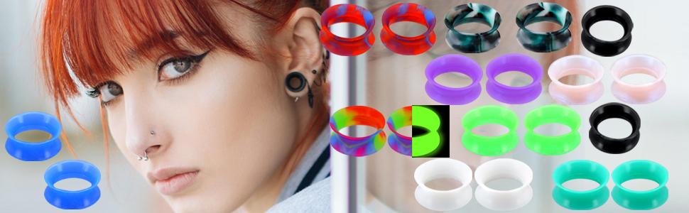 Silicone ear Tunnels