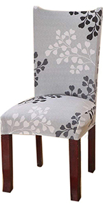 Gray Leaf Chair Slipcovers