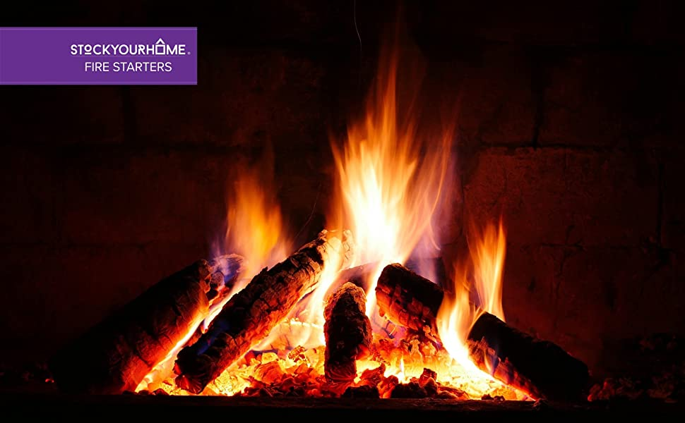 Stock Your Home Vegetable Oil Fire Starters (144 Squares) - Grill Fire Starters No Kindling Required