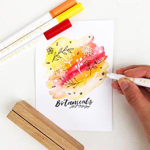 Calligraphy pen marker flower illustration diy illustrators floral bee botanicals