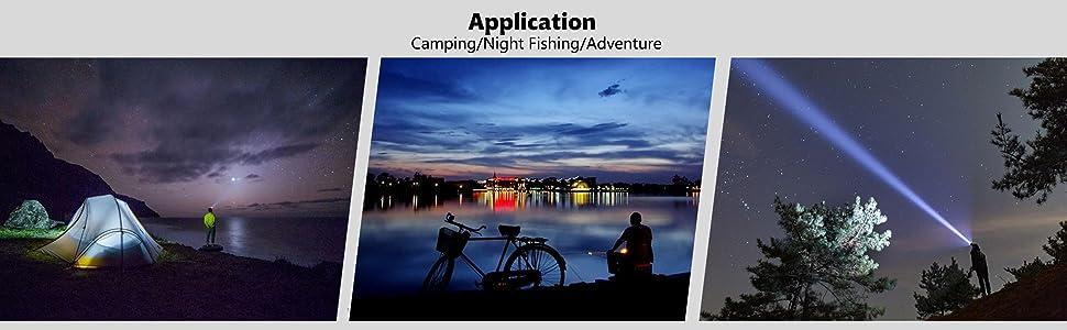 A hands free headlight for night fishing, night work, camping, repairing work in darkness