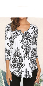 henley tunic top topes for women long sleeve paisley tunic shirts for women for legging fall clothes