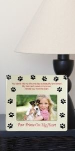 dog memory picture frame