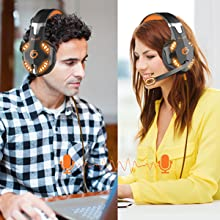 VersionTECH. G2000 Stereo Gaming Headset for Xbox one PS4 PC, Surround Sound Over-Ear Headphones