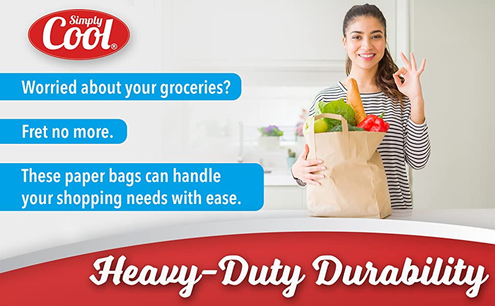 durable grocery bag, paper bag, kraft bag, paper bag with handle