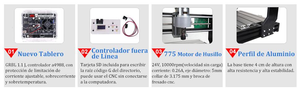 Nueva versión】Máquina CNC 3018 Pro Router Kit GRBL Control 3 ejes ...