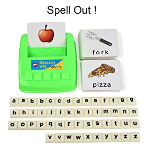 Spelling Game - BOHS Literacy Wiz -Lower Case Sight Words - 60 Flash Cards - Preschool Language Learning Educational Fun Game Toys