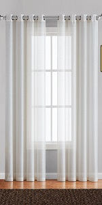 warm home designs curtains sheer panel drape swag sheer voile lace linen scarves see through windoww