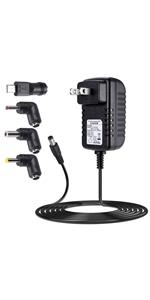 ACアダプター 5V 3A プラグ5.5*2.1mm*4種DCプラグアダプター AC/DC電源 充電器プラグ LEDライト 無線ルータ HUB スイッチ 防犯カメラ オーディオ ビデオ