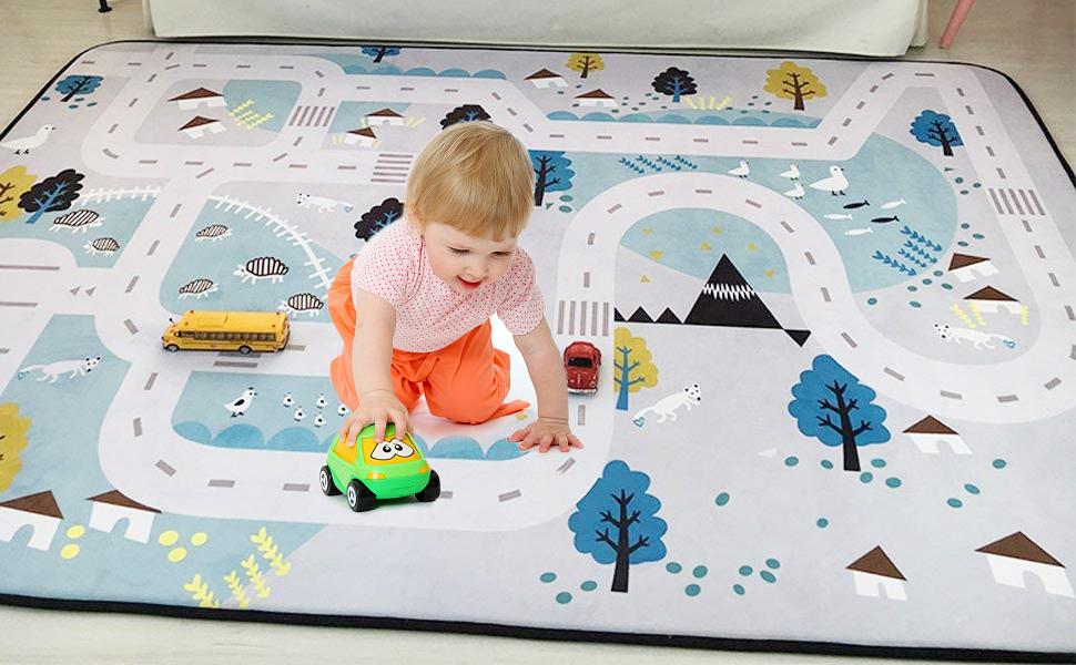 Kids room decor Baby gift Nursery decor Velvet baby mat Baby play mat Changing mat Baby play mat padded