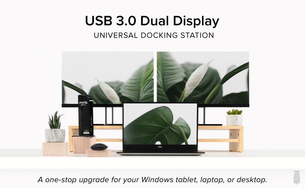 USB 3.0 Dual Display Universal Docking Station