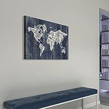World Map Wall Canvas Art