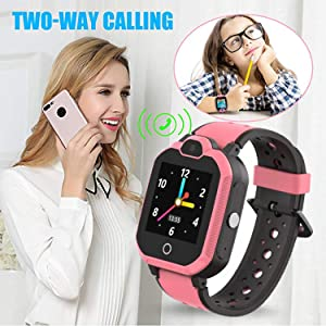Kids cell phone watch 2 ways call girls birthday gift Christmas gift back to school gifts kids watch