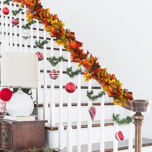 fall garland decoration fall garland for mantle autumn garland Artificial Autumn Maple Leave Garland
