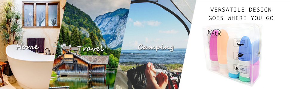 home travel and camping bottles