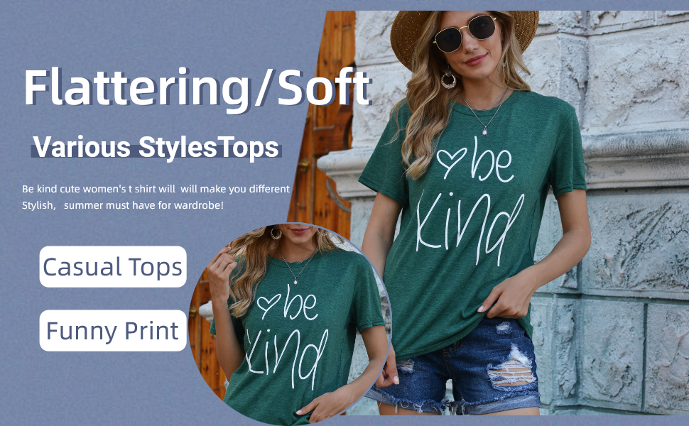 be kind women tshirts
