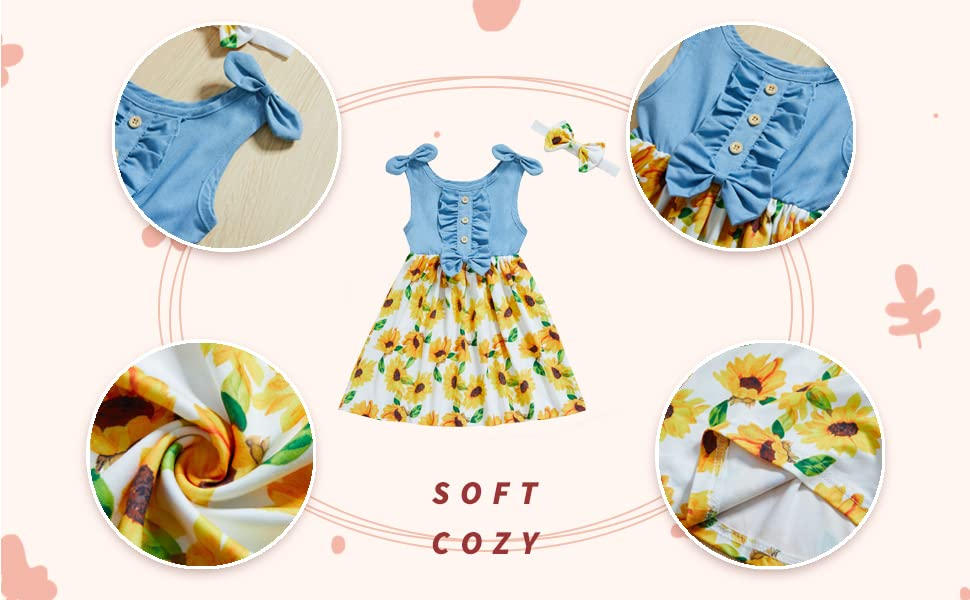 Little Girls School Wear Denim Dress