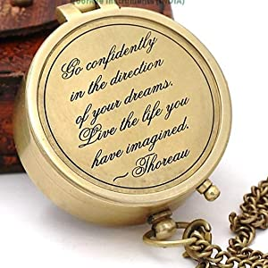 """Thoreau's Quote """"GO CONFIDENTLY IN THE DIRECTION OF YOUR DREAMS LIVE THE LIFE YOU HAVE IMAGINED""""."""