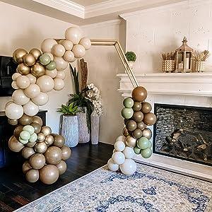 khaki balloons,blush balloons,champagne balloon