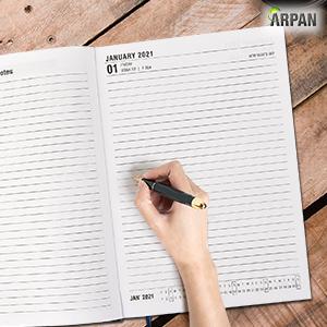 Year Academic Diary 2020-2021. Week-to-View A6 Diary Runs