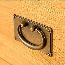 Lanner Oak dressing table metal handle