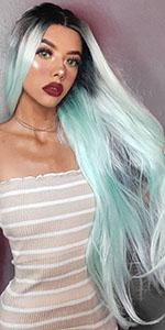 long green wig