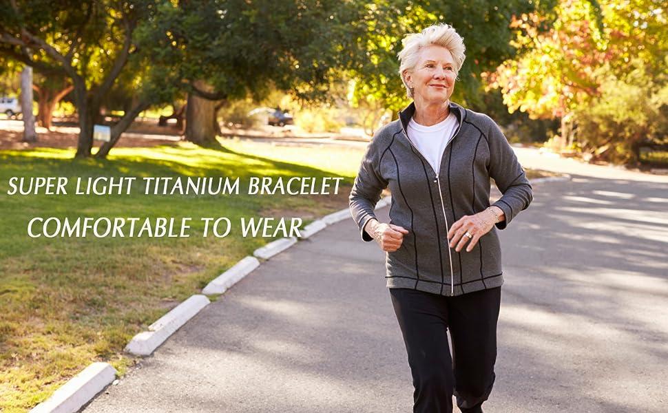 super light titanium bracelets comfortable to wear
