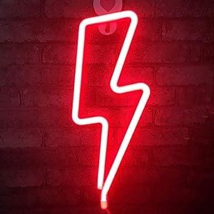 bliksem neon licht rood