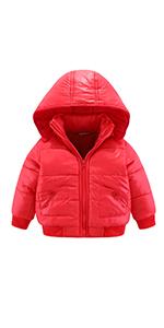 Kids Puffer Hooded Jacket